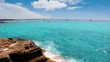 Formentera island in Balearic Mediterranean wiev of La savina