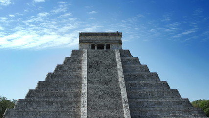 time-lapse of the mayan ruins at chichen itza, mexico
