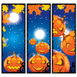 vector illustration of halloween banners