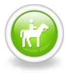 "Light Green Icon ""Horse Trail"""