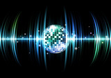 sound wave with discoball
