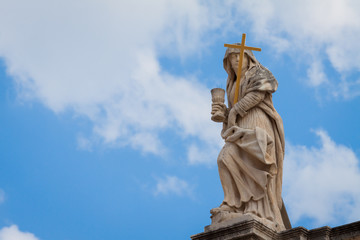 Religious figure  on top of St. Blaise church