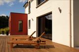 Fototapety transats et maison moderne