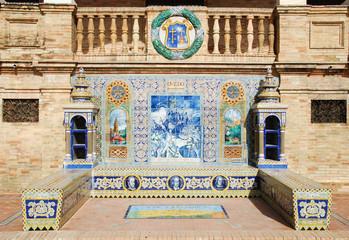 Tiled Province Alcoves Oviedo - Plaza de Espana - Seville