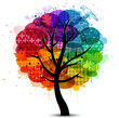 Beautiful abstract color tree background