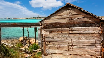 beach aged boat wooden grunge house typical balearic