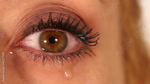 Eye expression closeup - tears, cry