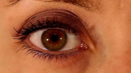 Female eye expression closeup - fixing