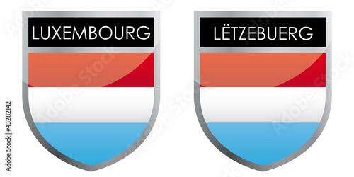 Luxembourg flag emblem