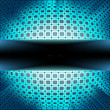 Technology squares with blue flare burst. EPS 8