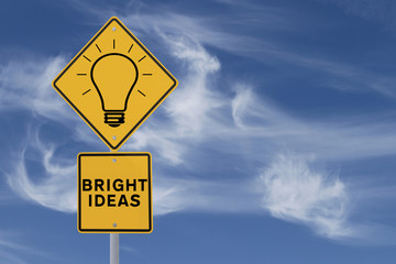 Bright Ideas Road Sign