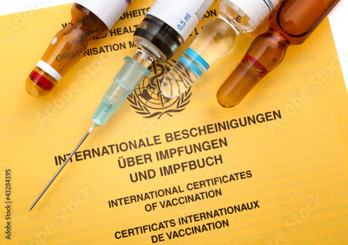 Leinwanddruck Bild Impfpass