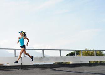 athlete running outdoors