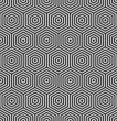 Hexagons seamless texture. Geometric pattern.