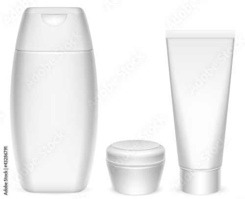 Cosmetics containers.