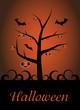 Halloween Pumpkin Tree Card