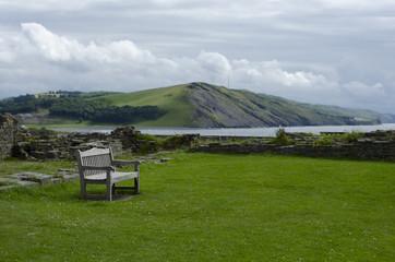 Park Bench Overlooking Coastal Bay
