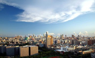 Panoramic View of Kaohsiung City in Taiwan