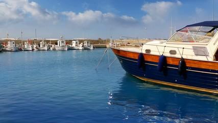 Balearic island of Formetera marina port mediterranean sea
