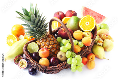 Variety of Fruits in a Basket