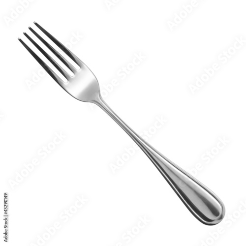 canvas print picture fork on white background