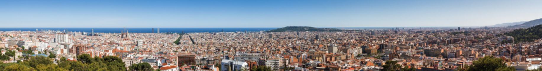 Entire Barcelona Panorama
