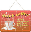 vintage coffee shop sign, vector illustration