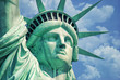 Leinwanddruck Bild - Statue Of Liberty-Manhattan-Liberty Island-NY