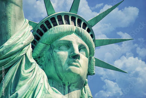 Leinwanddruck Bild Statue Of Liberty-Manhattan-Liberty Island-NY
