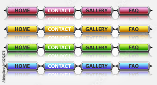 glossy buttons for web, vector