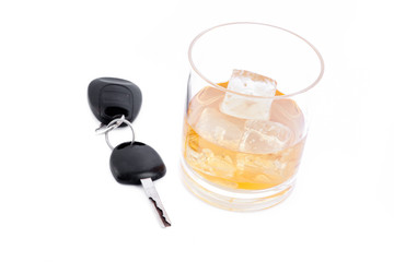 Car key and a whiskey