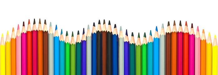 Crayons de couleur vague
