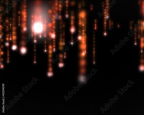 Orange lines blurred letters falling