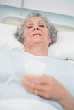 Elderly patient looking at camera