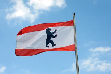Landesflagge von Berlin, Flagge, Fahne, Berliner Bär, Berlin