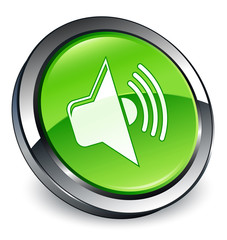 Audio icon 3D green button