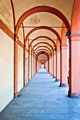 San Luca arcade (the longest porch in the world). Bologna, Italy