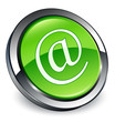 Email address icon 3D green button