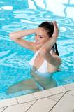 Beautiful girl in the water