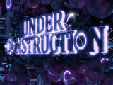 Under Construction electro style 3D poster
