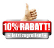 10% Rabatt! Button, Icon
