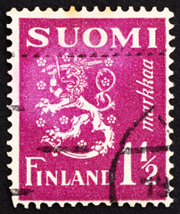 Postage stamp Finland 1930 Arms of the Republic of Finland