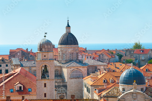 Rooftops of old city in Dubrovnik, Croatia