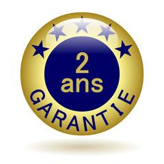 Bouton icône garantie 2 ans