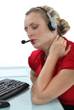 Telephone operator with neck pain
