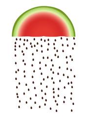 pasteque pluie