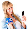 Woman holding a snapshot