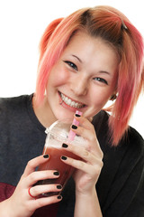 Teenager mit Bubble Tea