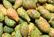 freshly cut fruit cactus Opuntia