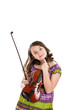 Young musican holding violin